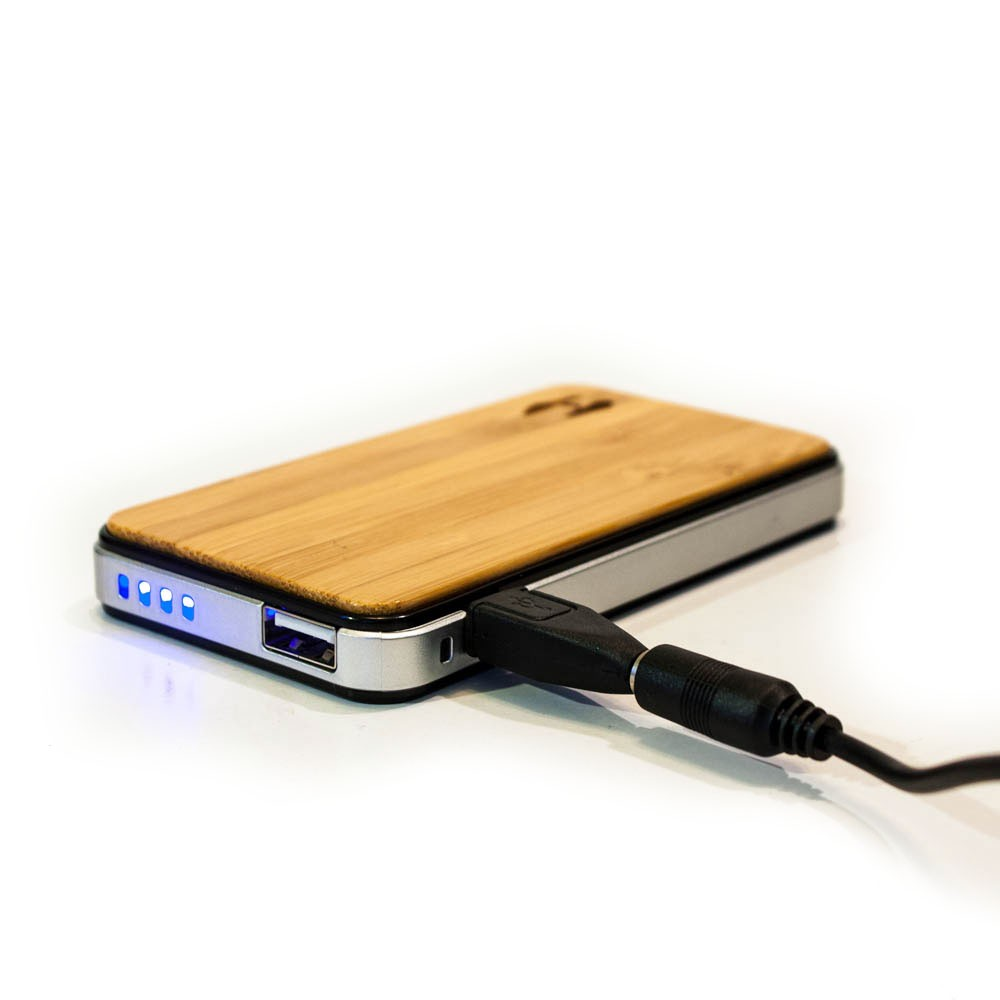 Wood Design Power Bank 2700 Solar Charger For Iphone Ipad