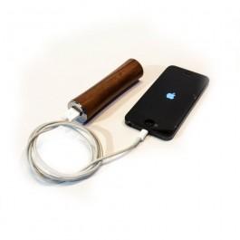 Houten oplader, design 'Power Staaf' voor iPhone, iPad of Samsung -Notenhout -Hoentjen Creatie