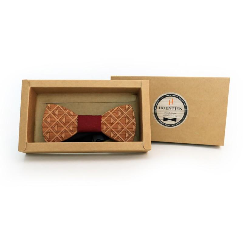 Hoentjen, Wooden bow tie - Cherry / dark red