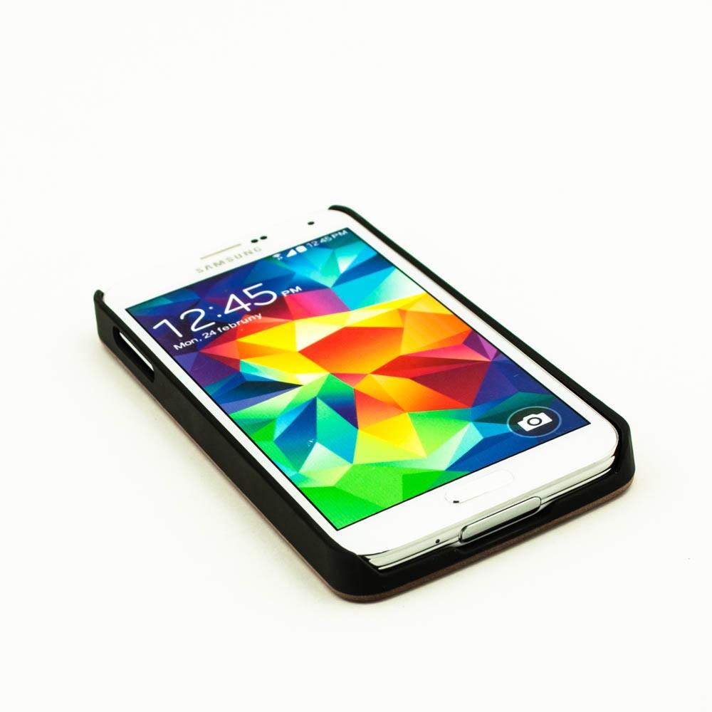online retailer c7261 7b1b2 Real wood hard case cover Samsung Galaxy S5 - dark walnut