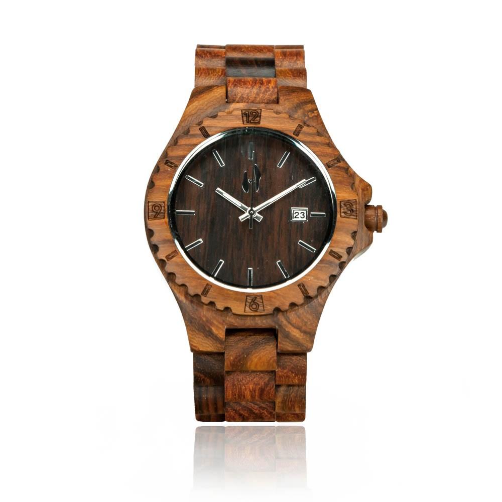 Wooden watch- Bora Bora, Hoentjen Creatie; Dutch wood design
