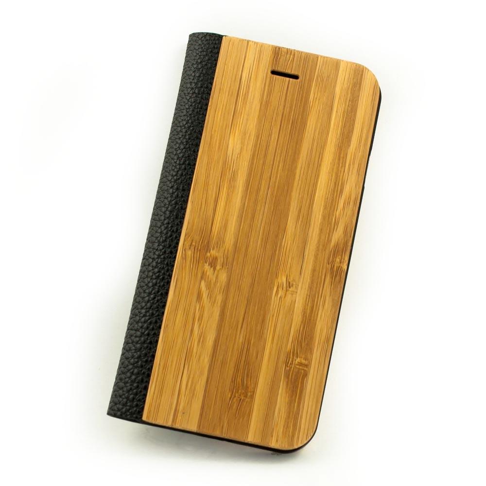 Iphone  Black Leather Flip Case