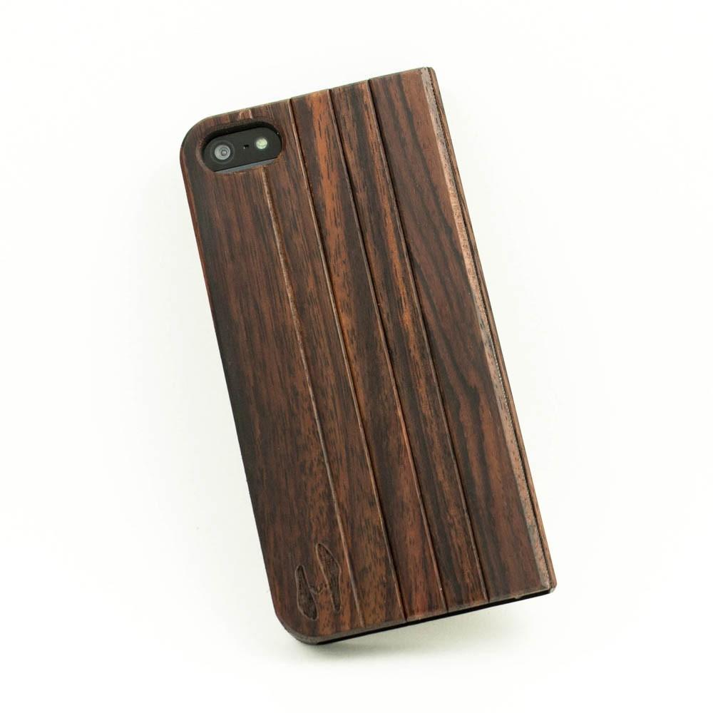 wood design flip case iphone 5 5s padauk. Black Bedroom Furniture Sets. Home Design Ideas