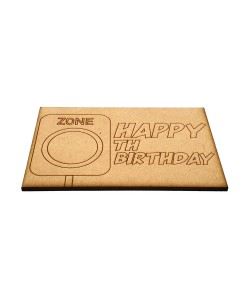 Hoentjen Creatie, Houten ansichtkaarten - Happy ...th Birthday