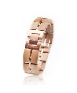 Hoentjen, wooden bracelet - Maple with roségoud 18mm