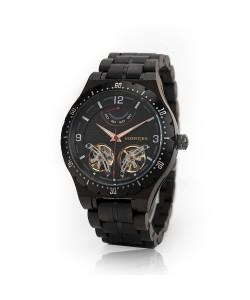Houten horloge 'Java' - Hoentjen Creatie