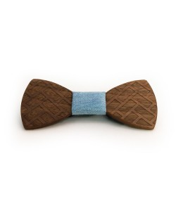 Hoentjen, Wooden bow tie - Walnut / jeans