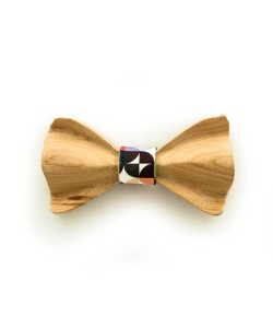 Hoentjen, Luxury wooden bow tie - orange