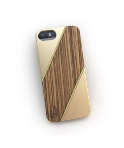 Wood design hard case, iPhone 5/5S hardcase made of zebrano wood