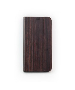 Wood design flip case, iPhone X / XS - Padouk