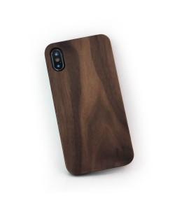 Walnut wood iPhone X / XS hard case