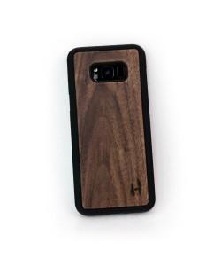 Hoentjen Creatie - Houten TPU case, Samsung Galaxy S8 plus - notenhout
