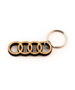 Hoentjen Creatie, Houten sleutelhanger - Audi