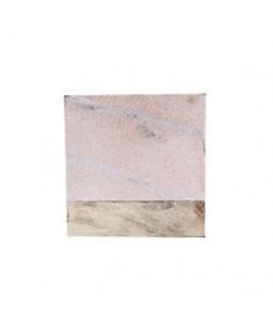 4 Houten/Marmeren Onderzetters Roze