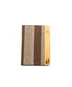Wooden iPad AIR bookcase - bamboo and fabric