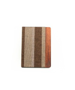 Wooden iPad AIR bookcase - rosewood and fabric
