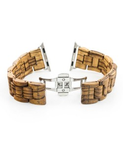 Hoentjen, wooden strap Apple Watch - Zebrano, 38mm