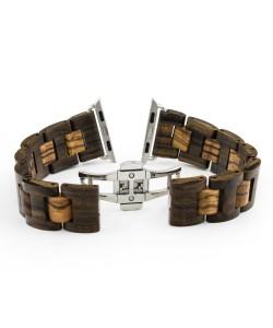 Hoentjen, wooden strap Apple Watch - Padouk & Zebrano, 38mm
