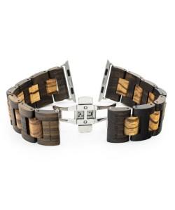 Hoentjen, wooden strap Apple Watch - Padouk & Zebrano, 42mm