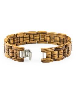 Hoentjen, Wooden bracelet  - Zebrano, 18mm