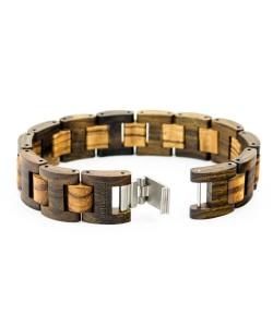 Hoentjen, Wooden bracelet - Padouk & Zebrano, 18mm