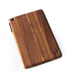 Wood iPad mini case - dark walnut