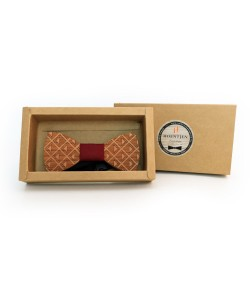 Hoentjen, Wooden bow tie - Cherry / dark red
