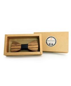 Hoentjen, Wooden bow tie - Zebra / black