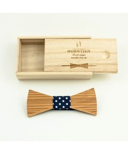 Hoentjen, Wooden bow tie(basic line) - white dots