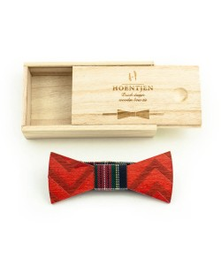 Hoentjen, Wooden bow tie (basic line) - red angle