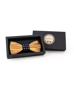 Hoentjen, Luxury wooden bow tie - Zebra