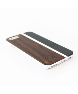Wood and metal case iPhone 5 / 5S - padouk & black metal