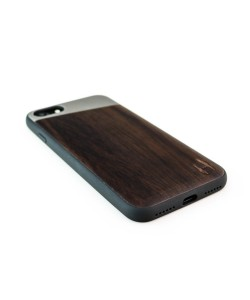 Wooden TPU case, iPhone 7 - Padouk and grey metal