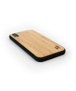 Wooden TPU case, iPhone X / XS- Bamboo