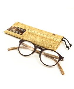 Reading glasses woodenprint brown, Hoentjen Creatie