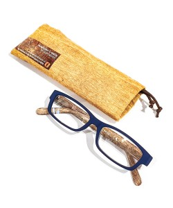 Reading glasses wooden print blue, Hoentjen Creatie