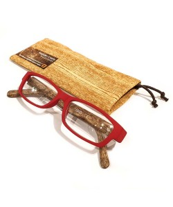 Reading glasses wooden print red, Hoentjen Creatie