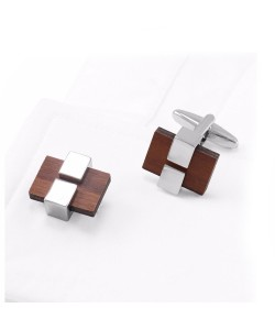 Hoentjen Creation, cufflinks - Rosewood with light metal