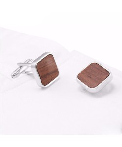 Hoentjen Creation, cufflinks - Rosewood square