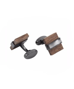 Hoentjen Creatie, cufflinks - Walnut with dark metal