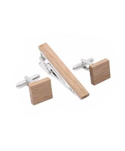 Hoentjen Creatie, cufflinks - Oak square