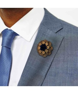 Hoentjen, Lapel Flower - Blue