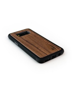 Real dark walnut wood TPU case for the Samsung Galaxy S8