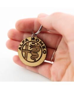 Wooden keychain - Alfa Romeo