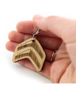 Wooden keychain - Citroen