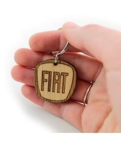 Wooden keychain - Fiat