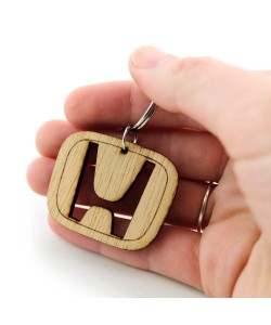 Wooden keychain - Honda