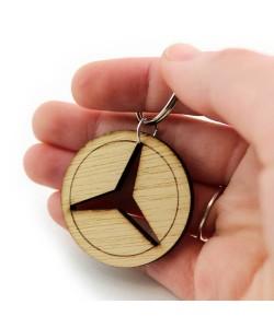 Wooden keychain - Mercedes