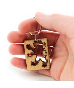 Wooden keychain - Peugot