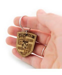 Wooden keychain - Porsche